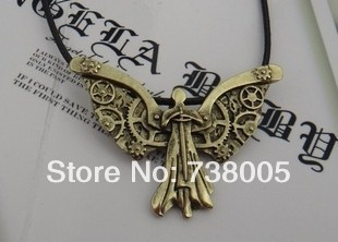 The Mortal Instruments City of Bones The Infernal Devices Tessa's Clockwork Angel Pendant necklace Wholesale Jewelry !!!(China (Mainland))