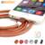 Bastec Fashion Super Strong Leather 20cm / 100cm Metal Plug Micro USB Cable for iPhone 7 6 6s Plus 5s 5 iPadmini / Samsung