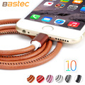 Bastec Super Strong Leather 20cm 100cm Metal Plug Micro USB Cable for iPhone 7 6 6s