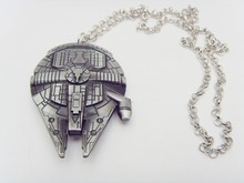 Movie Jewelry Star Wars Millennium Falcon metal pendant necklace for fans