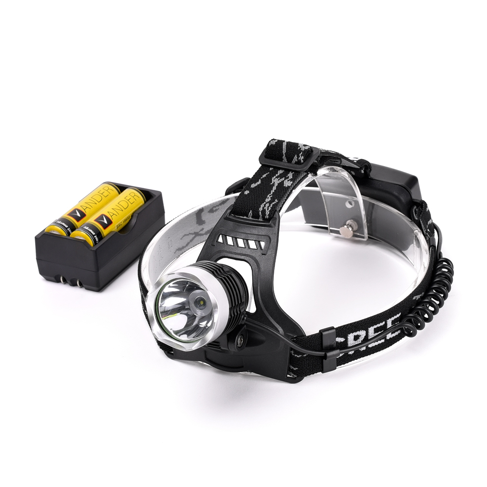 A+++ Chargable Head Lamp Light 2000 Lumens Led headlamp 18650 CREE XM-L T6 LED Headlamp Headlight + 2*18650 battery + 1 charger(China (Mainland))