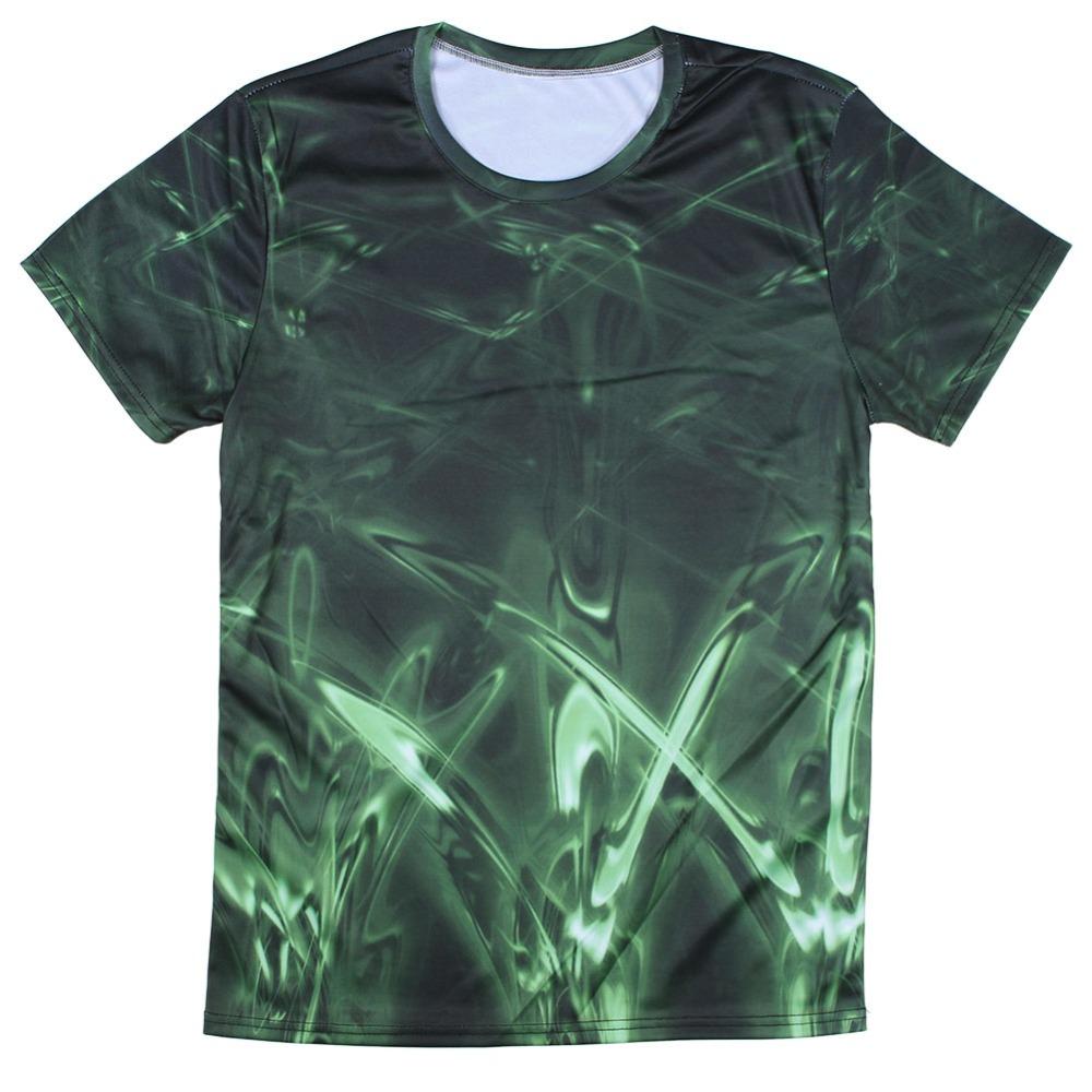 Hot Sale Leisure Man T Shirt 3d Digital Printing Crew Neck
