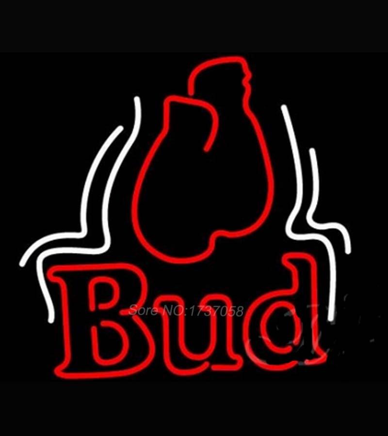 Budweiser Bud Boxing Gloves Beer Light Neon Dallas Cowboys Neon Sign Nbaa Jersey Beer Bar Pub ...