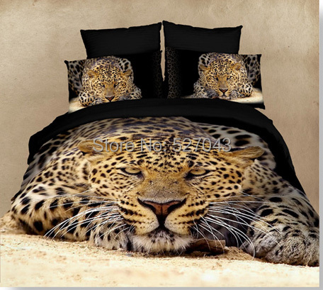 Tiger Animal 3D Oil Painting Print Bedding Sets/Comforter sets/Bed sets/Duvet Covers/bedspreads Full/Queen Size,PDN-15 - A-ONE Home Textile store