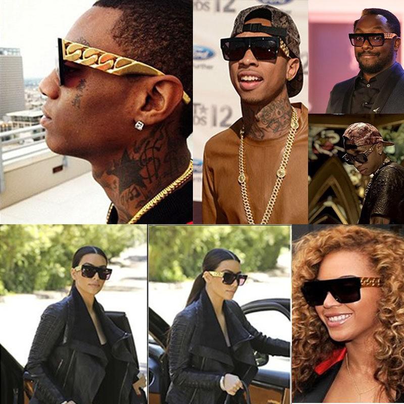 2015-Oculo-retro-glasses-Sunglasses-Style-Flat-Men-Glasses-Gold-Chain-Women-Designer-gafas-de-sol