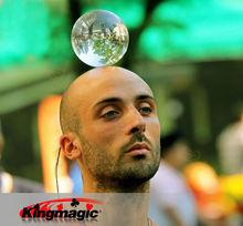60mm Contact Juggling Ball 100% Acrylic Crystal Ultra Clear Ball Manipulation Juggling Magic Tricks Easy To Do(China (Mainland))