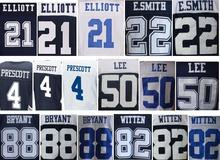 Best quality jersey,Mens 4 DAK 21 EZEKIEL 82 Jason 88 dez Blue White Thanksgiving elite Jerseys(China (Mainland))