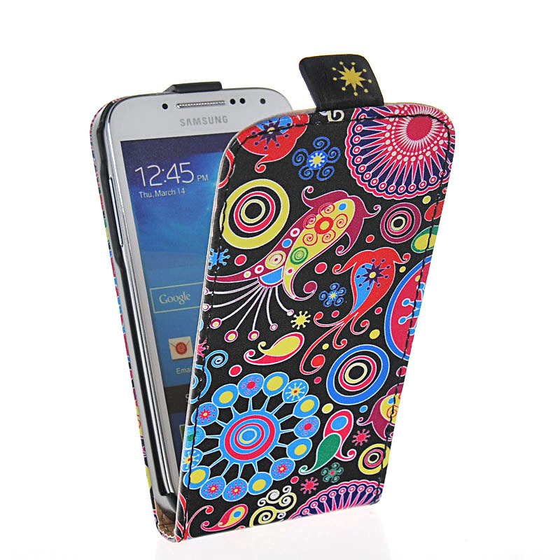 GRAFFITI STYLE LEATHER FLIP POUCH CASE COVER FOR SAMSUNG GALAXY S4 MINI I9190 - SMT's most popular store