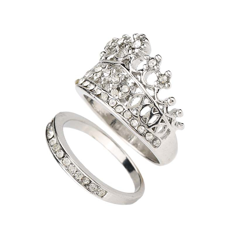 Aliexpress Buy Crown Wedding Rings For Women Silver Plated Fashion 2015