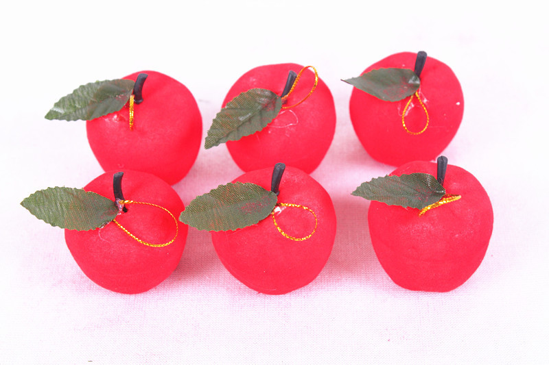 3CM Christmas ornaments Christmas tree ornaments red apple red apple pendant mounted six Christmas gifts(China (Mainland))