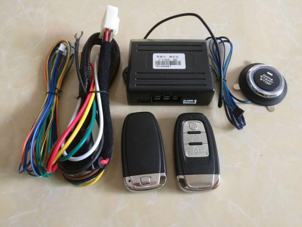 Car alarm system keyless entry&push button start A key system go smart keys anit-hijackign function low battery warning(China (Mainland))