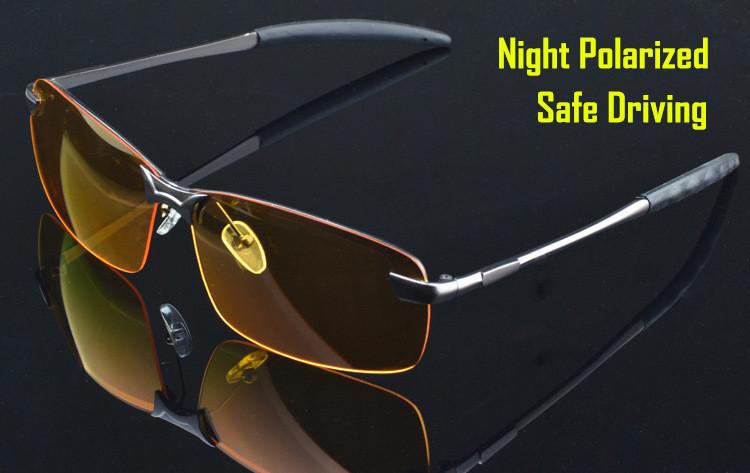Famous brand sunglasses men polarized night vision goggles Men night driving glasses men sunglasses polarized yellow lens 3043(China (Mainland))