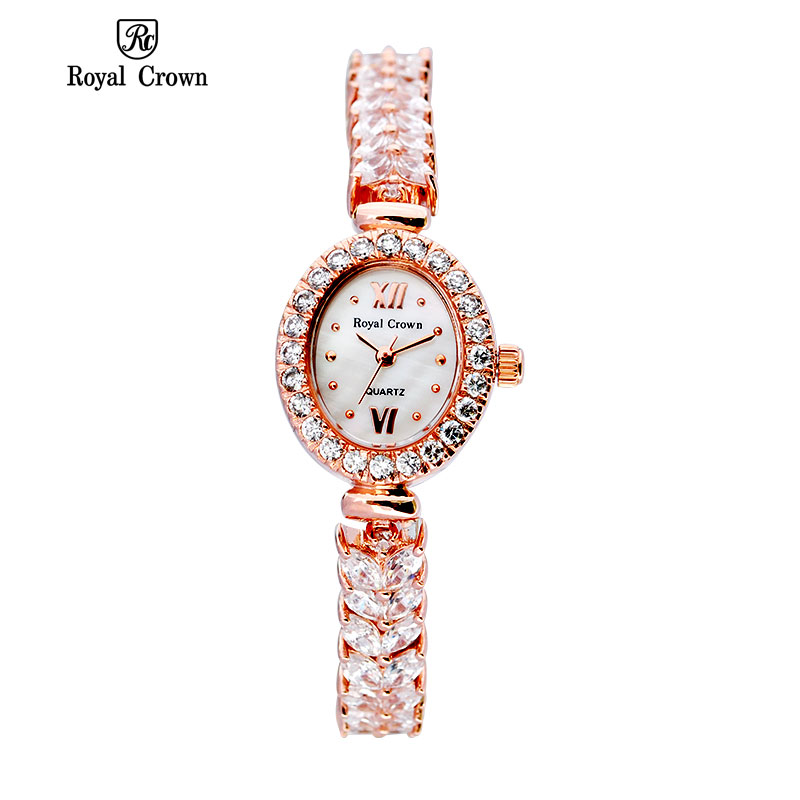 Royal Crown 1516 Italy Brand MIYOTA Switzerland Diamond women's watch quartz bracelet ladies watch relogio feminino