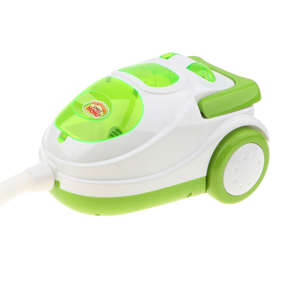 Young  Preschool Role Play Home Appliance Housekeeping/Kitchen Furniture Toy Pretend Play Fun - Vacuum Cleaner Green