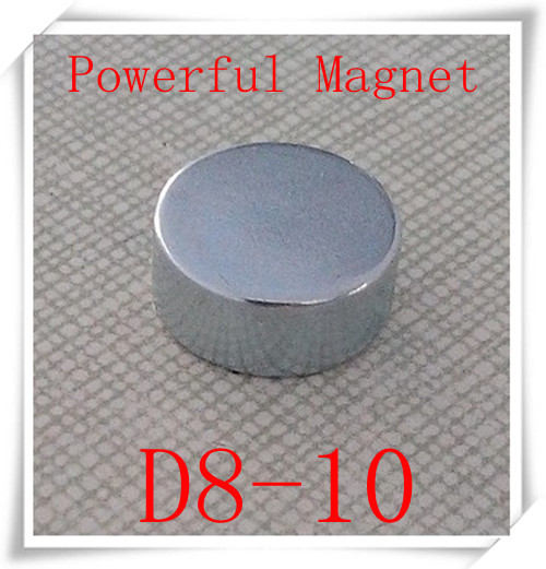High Quality 10PCS 8*10mm  Round  Super Powerful Strong Rare Earth  Neodymium NdFeB Magnet<br><br>Aliexpress