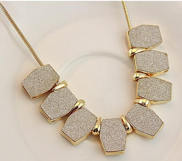 2015 Fashion irregular geometry nubuck leather rope necklace female short necklace chain necklace accessories(China (Mainland))
