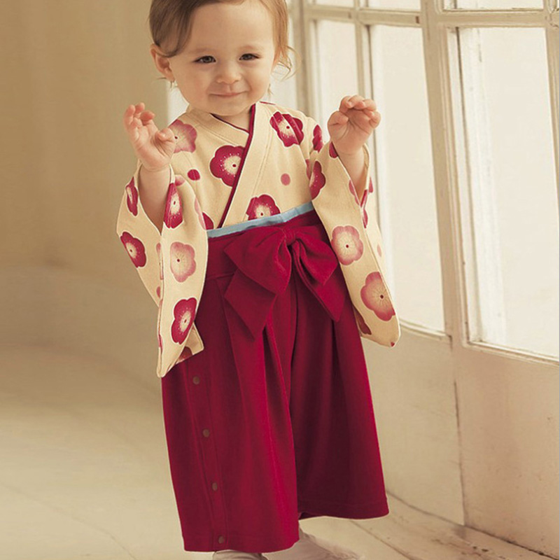 2016 Baby Rompers Kids Japanese Kimono Style Clothes Toddler Rompers Jumpsuit for Newborns Bebes Costumes Long Sleeve Clothing  sc 1 st  Bajby.com : japanese baby costumes  - Germanpascual.Com