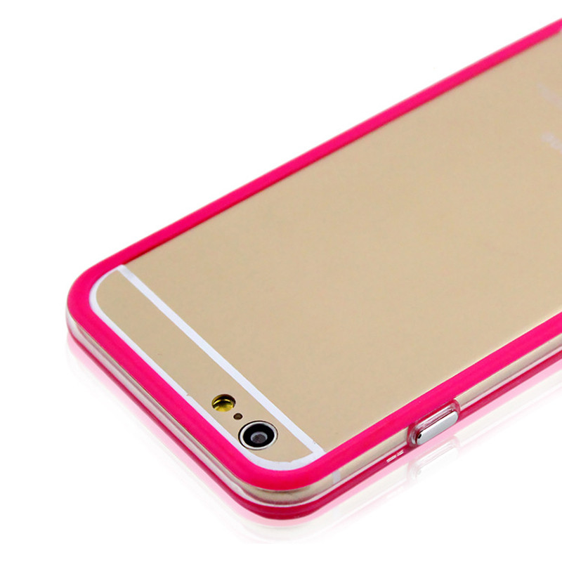 "TPU Silicon Frame Case Bumper For Apple iphone 4 4s 5 5s SE 6 6s Plus 4.7"" 5.5"" Soft Phone Cases Bags Candy Color"