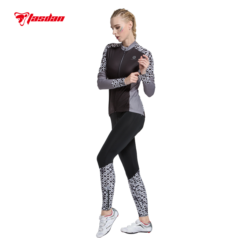 Tasdan 2016 Cycling Wear Cycling Clothes Cycling Jersey Sets Quick Dry Mountain Bicycle Racing Bike Gray for Women's(China (Mainland))
