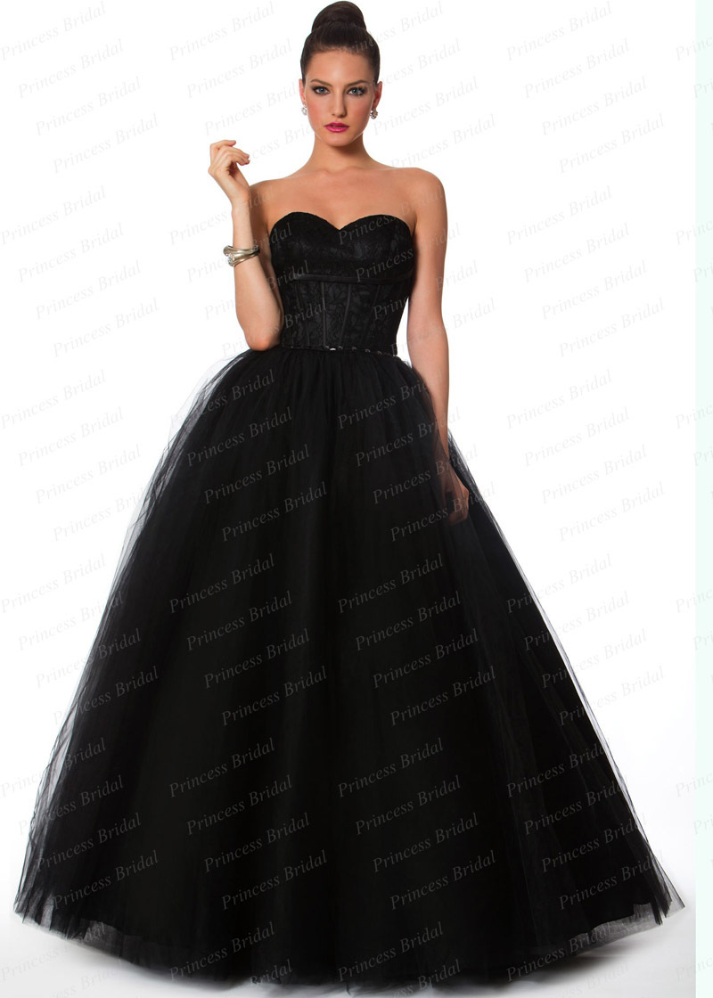 Wedding Black Tulle Dress aliexpress com buy free shipping puffy sweetheart beaded floor length long black tulle ball gown indian evening dress with top l