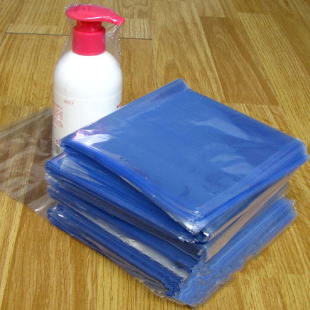 "500Pcs/ Lot ( 7.5*20cm ) 2.95""x7.87"" Hand Lotion Clear PVC Blow Molding Bag Plastic Heat Shrinkable Membrane Pack Wrap Material(China (Mainland))"