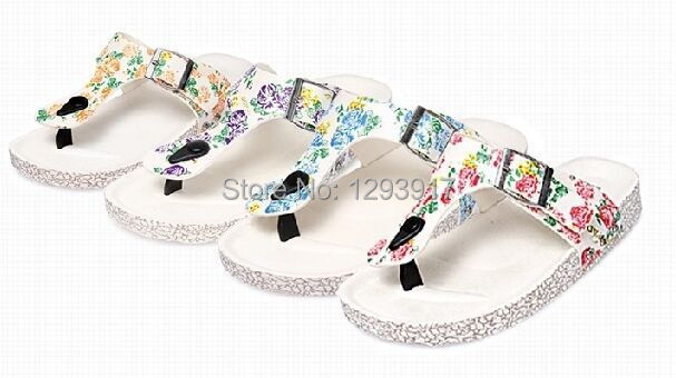 2015 Korean Summer Beach Flip Word Sandals Cork Drag Girls Flat Shoes Slippers Comfort - Moon Group Super Market store