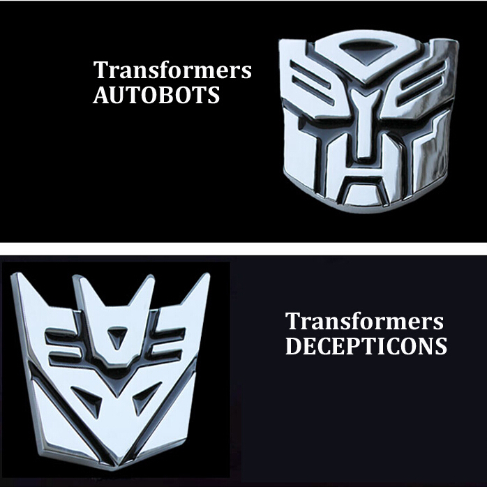 Car Decoration Sticker Logo Metal 3D Autobot Decepticon Emblem Badge Decal Truck Auto styling Car Styling