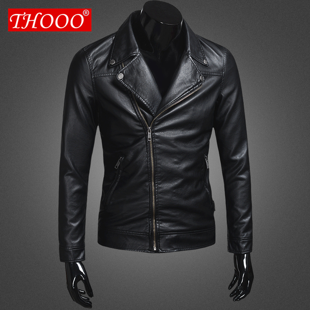 THOOO  brand New arrive motorcycle leather jackets men ,men's leather jacket, jaqueta de couro masculina,mens leather jackets