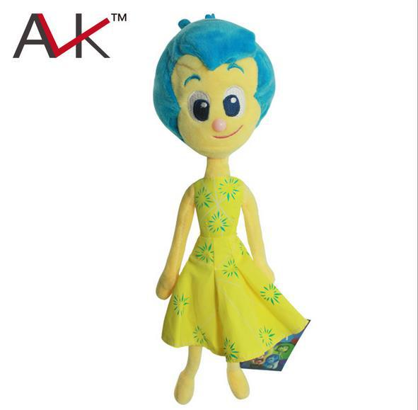 "1pcs Newest Pixar Movie  Inside Out Joy Plush Toys Stuffed Doll 13"" 32cm For Children's Gift 84(China (Mainland))"