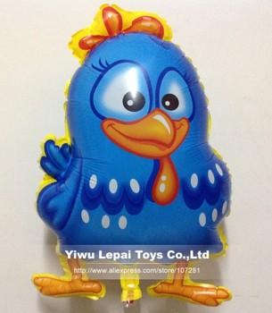20pcs/lots , wholesales Galinha pintadinha mylar balloon , Chicken cartoon balloon,