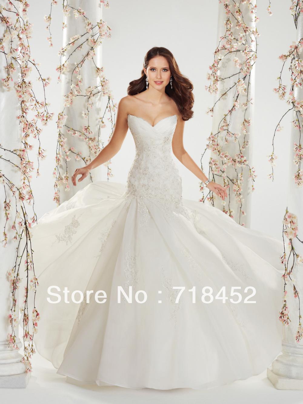 Buy simple design white organza dress for Off the shoulder wedding dress topper