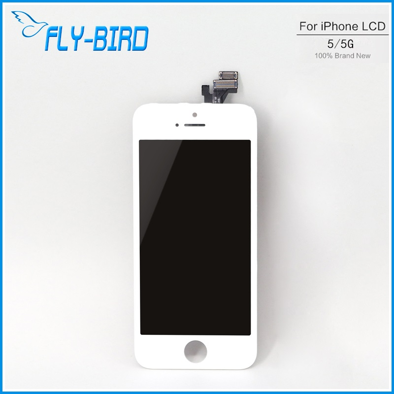 10PCS/LOT A quality lcd For apple iPhone 5 display screen assembly replace with original digitizer glass No Dead Pixel free ship(China (Mainland))