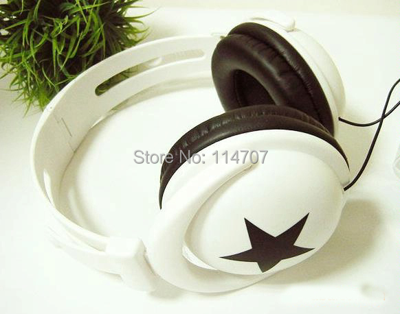 New 3.5mm Star Earphones Headphones Headset For MP4 MP3 Phone Laptop game headphones for computer(China (Mainland))