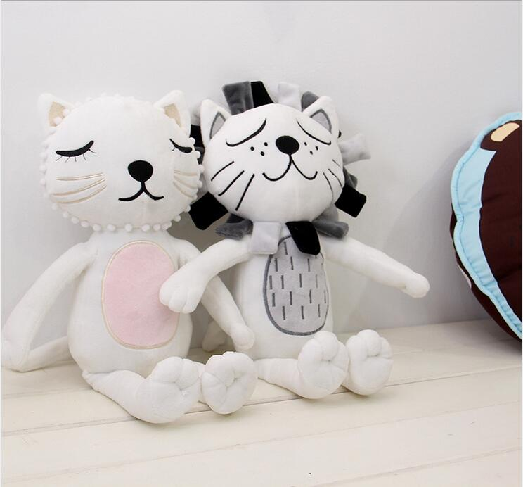 Free shipping Nordic style cat lion modeling Plush Toys Humanoid doll Doll to appease