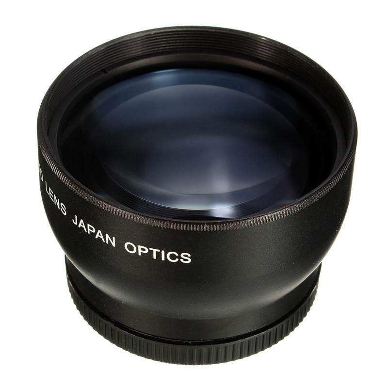 52MM 2X Telephoto <font><b>Lens</b></font> For <font><b>Nikon</b></font> D3100 D5200 D5100 D7100 D90 D60 and Other DSLR Camera <font><b>Lenses</b></font> With 52MM Filter Thread