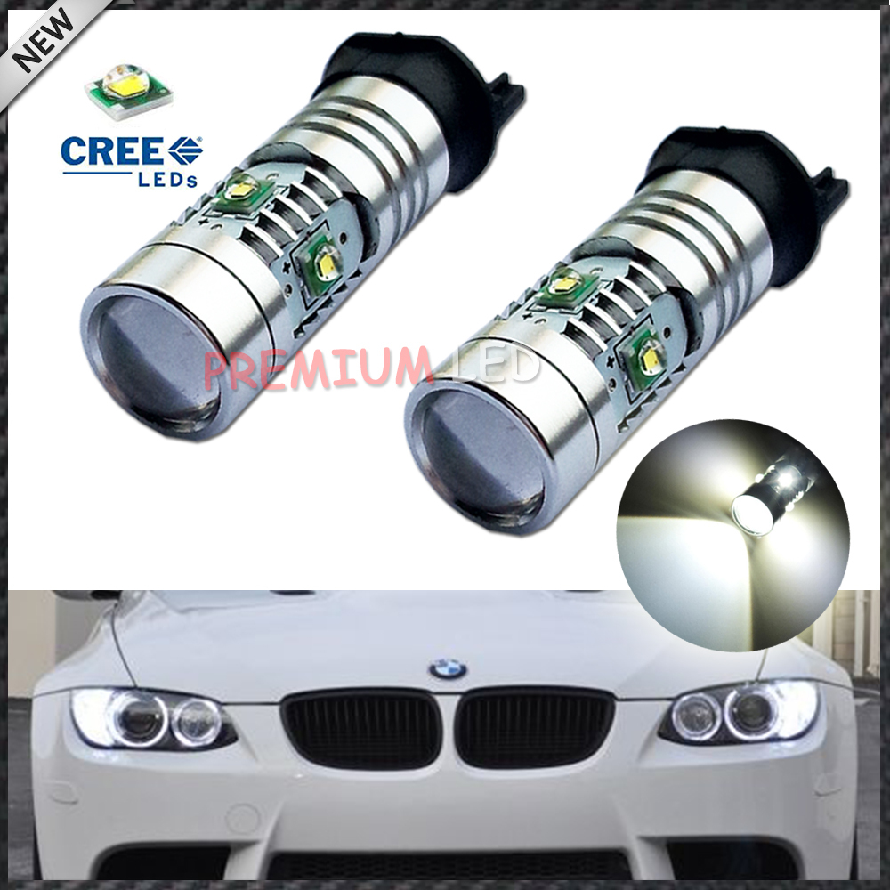 4pcs Xenon White 25W CREE PW24W PWY24W LED Bulbs For Audi BMW Volkswagen Front Turn Signal Lights or Daytime Running Lights(China (Mainland))