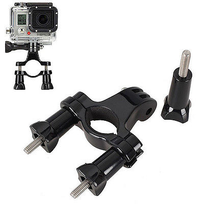Delicate Bike bicycle Handlebar Seatpost Pole Mount bracket Tripod for Gopro Hero 2 3 3+ sj4000 sj5000 Camera(China (Mainland))