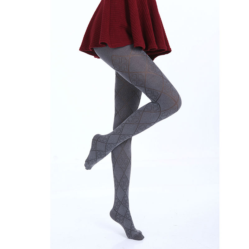 Hot Spring Autumn Tights 280 Denier Not Opaque Plaid Pattern Jacquard Velvet Pantyhose, Sexy and High Elasticity,(China (Mainland))