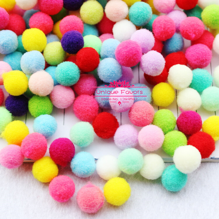 500pcs pastel colors 20 30mm pom pom balls polyester