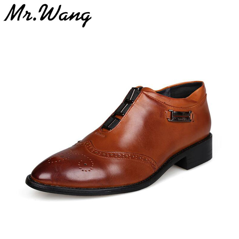 2014 new arrivve Mens Fashion shoes Genuine Leather shoes Wedding shoes pointed toe casual Oxfords SIZE 38-43 AX7-02<br><br>Aliexpress