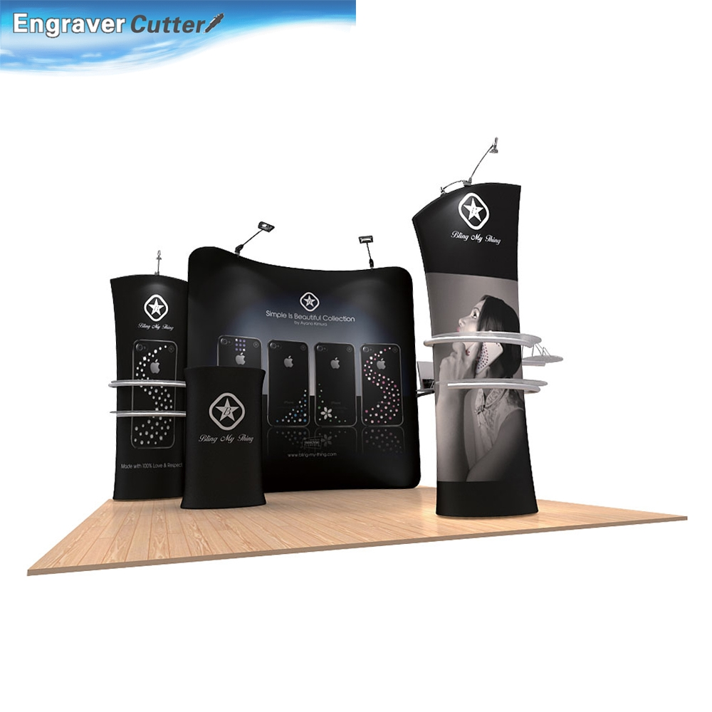 10ft Curved Fabric Exhibition Display System With Graphic #01(China (Mainland))