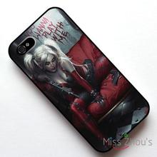 For iphone 4/4s 5/5s 5c SE 6/6s plus ipod touch 4/5/6 back skins mobile cellphone cases cover Harley Quinn Girl