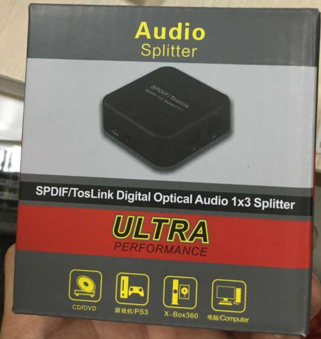 2016new spdif/toslink digital optical audio 1*3 splitter ultra performance amplifiers audio home audio amplifier audio splitter(China (Mainland))