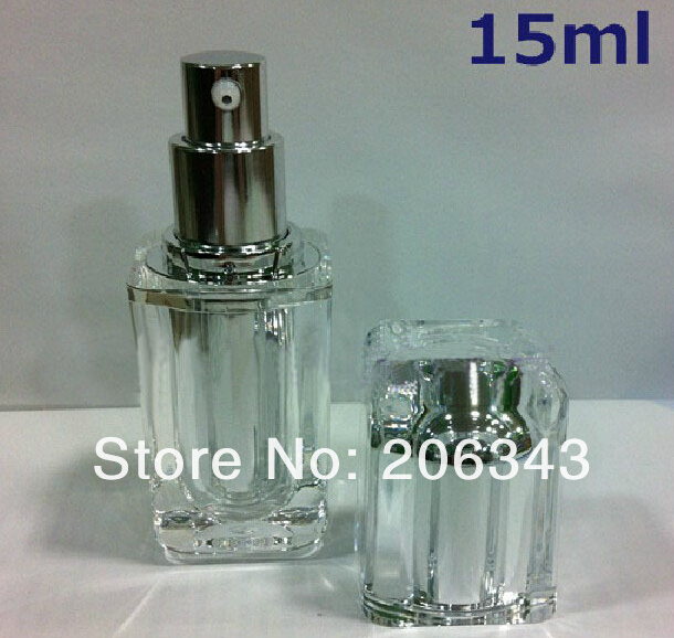 15ml silver square shape press pump lotion/emusion bottle,cosmetic container,press pump bottle ,Cosmetic bottle<br><br>Aliexpress