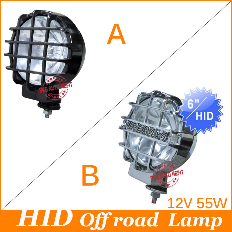 Free shipping,55W 6inch 12V H3 HID XENON DRIVING SPOTLIGHTS OFF ROAD Lights 4x4 6000k 4700lm fog light whit bulit-in ballast<br><br>Aliexpress