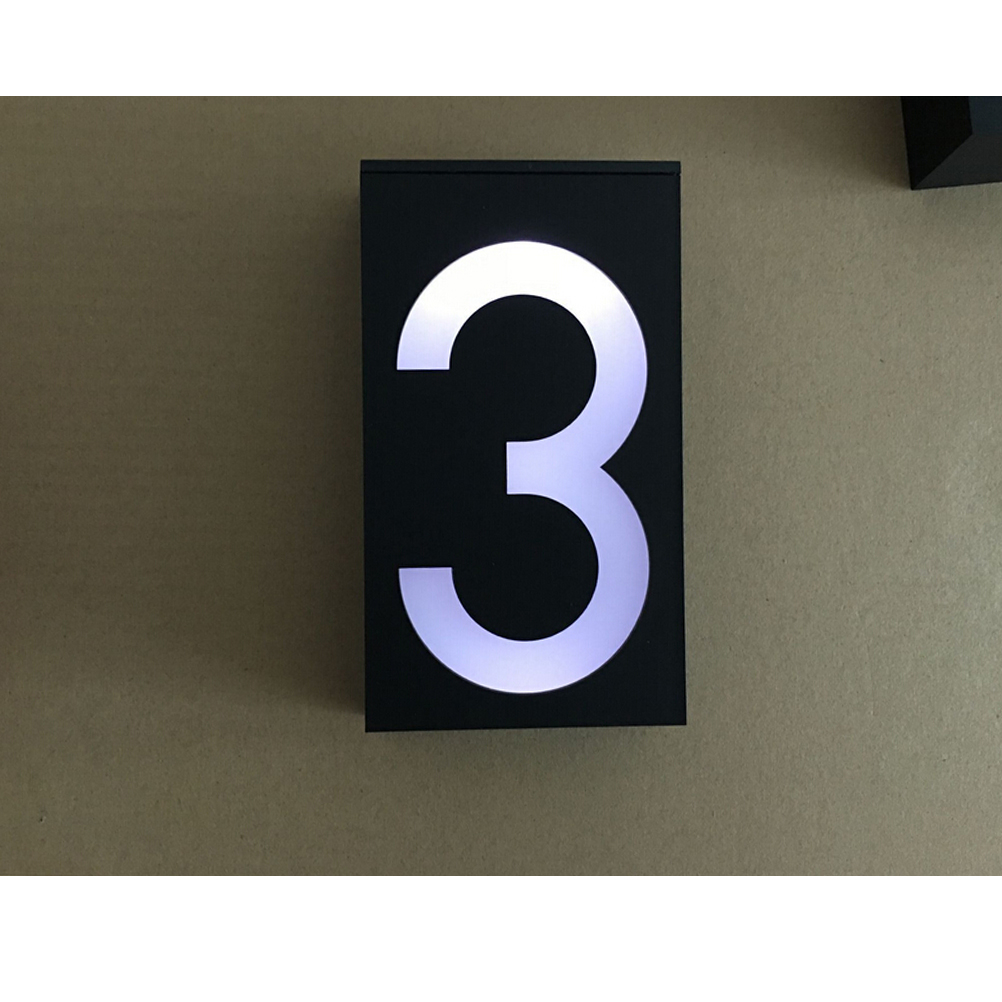 House number signs lighted reviews online shopping house Led house numbers