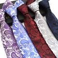 2016 New Fashion Paisley Cashew Ties for Men Business 8 cm Skinny Necktie Polyester Silk Wedding