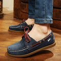 2016 British Style Fashion Men Boat Shoes Spring Autumn Youth Lace Up Casual Comfortable Flat Men