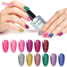 FairyGlo 10ml Gel Nail Polish Bling Neon Series Nagellak UV Lamp Soak off Glitter Gel Polish Nail Gel Color 1pcs Vernis a ongle(China (Mainland))