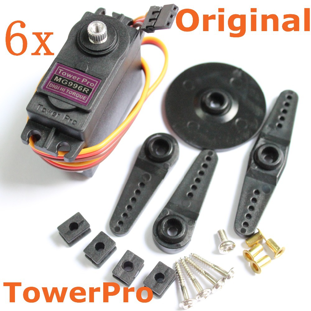 6pcs/lot TowerPro MG996R Servo Motor Digital High Torque 11kg Metal Gear For RC Car Boat Robot 996R Baja Steering HPI(China (Mainland))